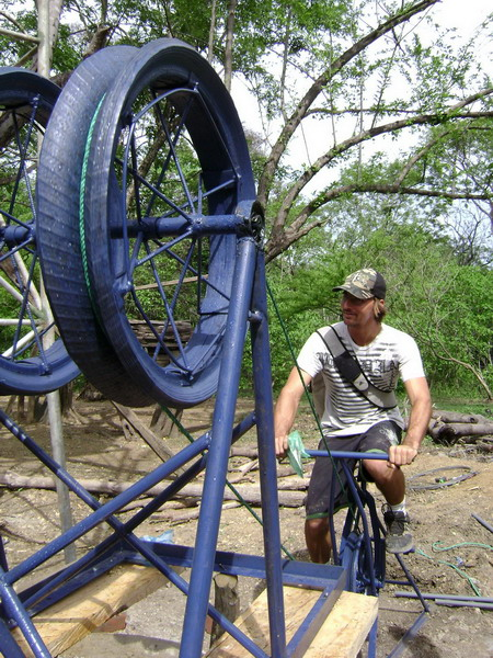 A British engineering student has invented a mobile bicycle-powered water pump, which is being used in rural Guatemala.